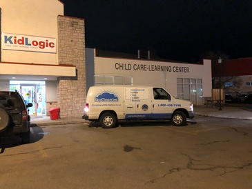 SkyClean Inc. Vehicle Parked on Road - School Cleaning Services Sarnia ON