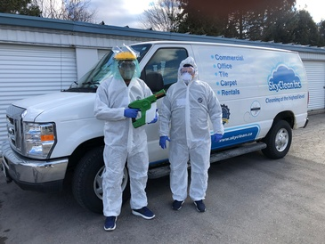 Covid-19 Commercial Disinfection London, ON by SkyClean Inc.