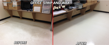 Before and After Office Floor Strip and Wax Services Chatham-Kent by SkyClean Inc.